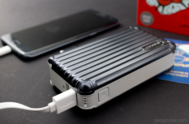 The build quality and design of the ROMOSS UPower 10000mAh Power Bank