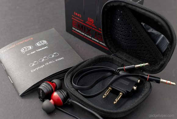 The accessories that come with the EMIX I30 pro gaming headset