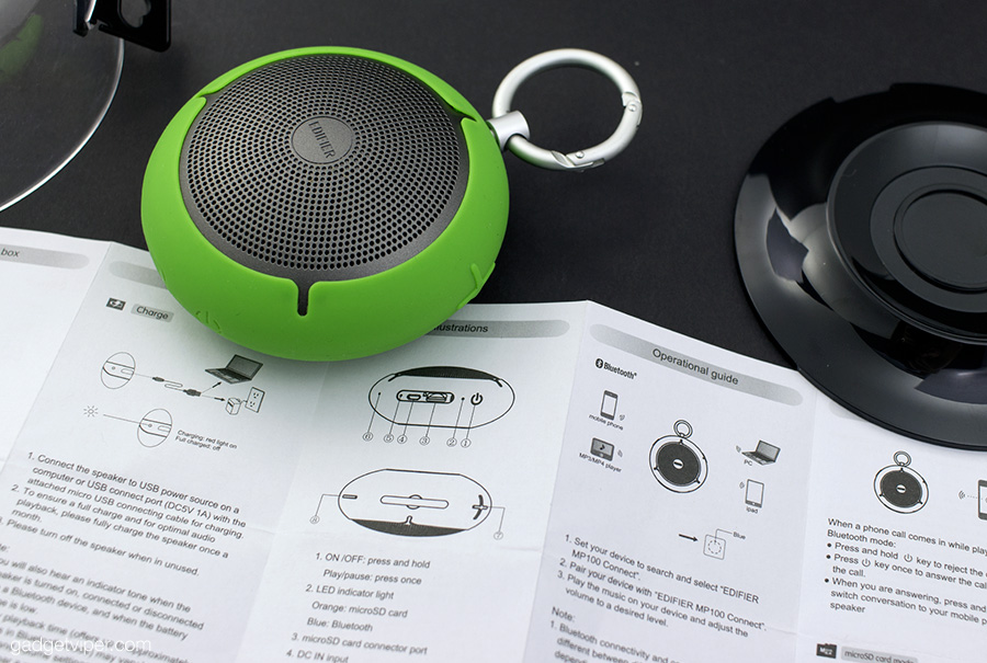 MP100 Bluetooth speaker - Features and performance.