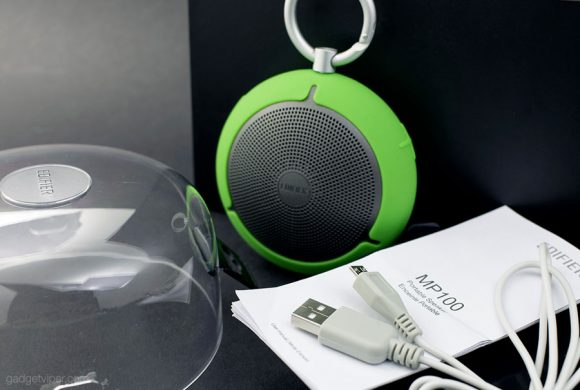 The Edifier MP100 Bluetooth speaker comes inside a high quality display case