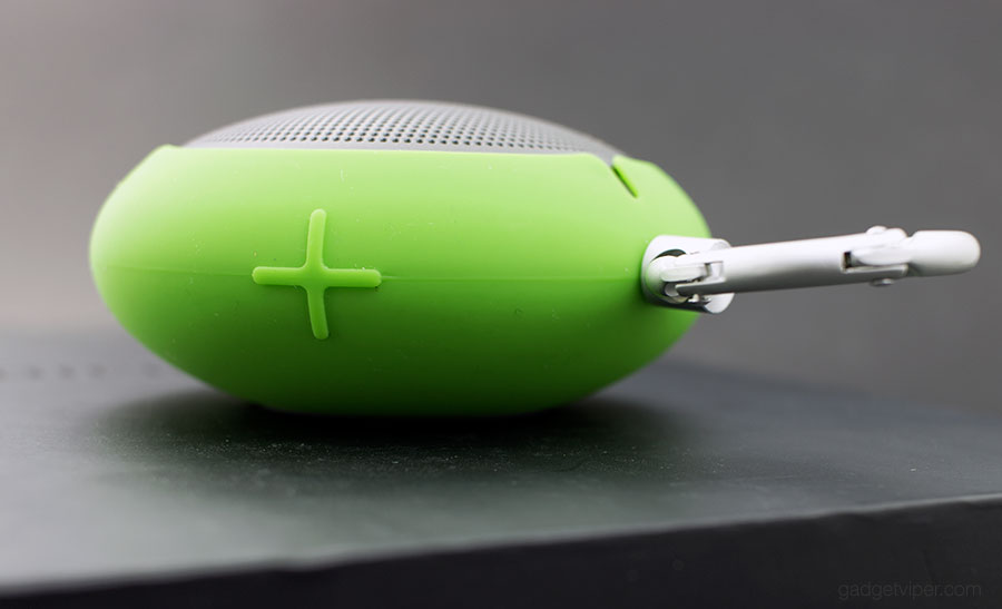 a side view of the Edifier MP100 Bluetooth speaker