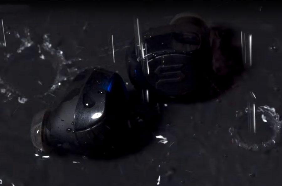 X-Shock wireless earbuds are fully waterproof.