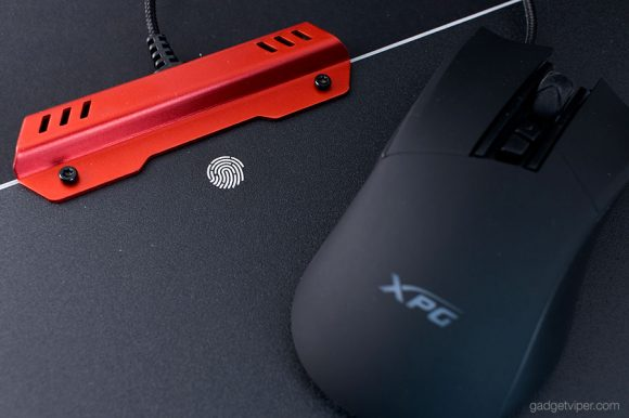 The Metal housing on the R10 Infarex mousepad