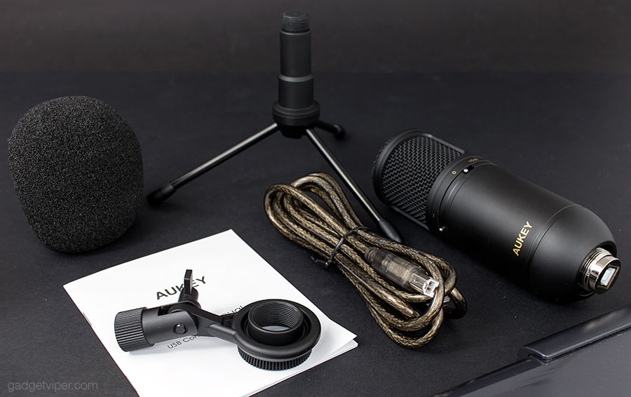 The AUKEY USB computer microphone accessories