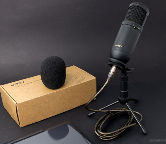 The AUKEY MI-U2 USB condenser microphone review