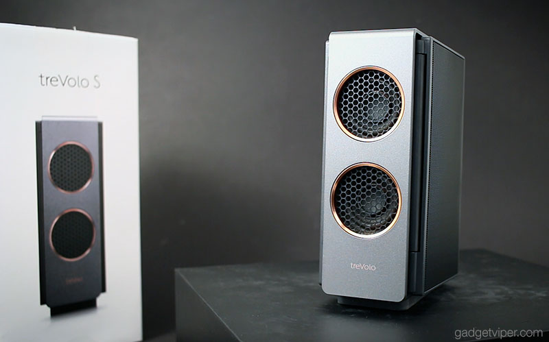 The TreVolo S with the Electrostatic speaker panels folded inwards.