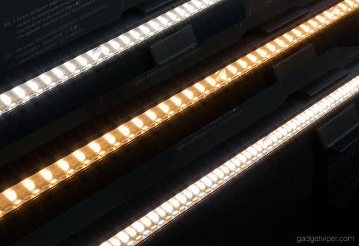 The hue setting on the BenQ ScreenBar LED e-Reading Lamp