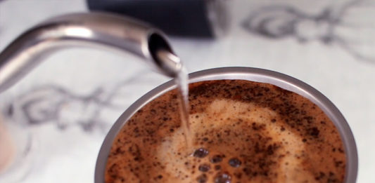 The pour over method for the Keith Ti3991 Titanium coffee maker