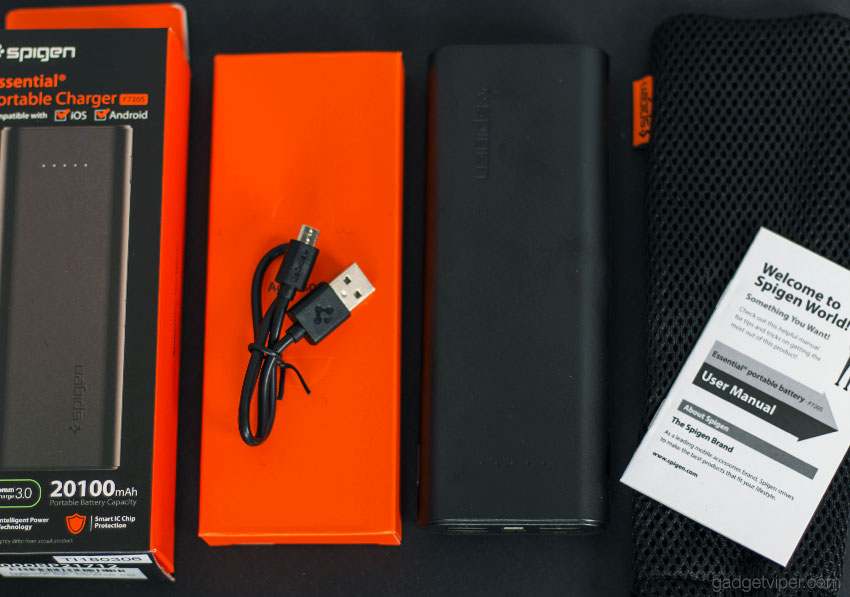The Spigen Essential High Capacity Power Bank
