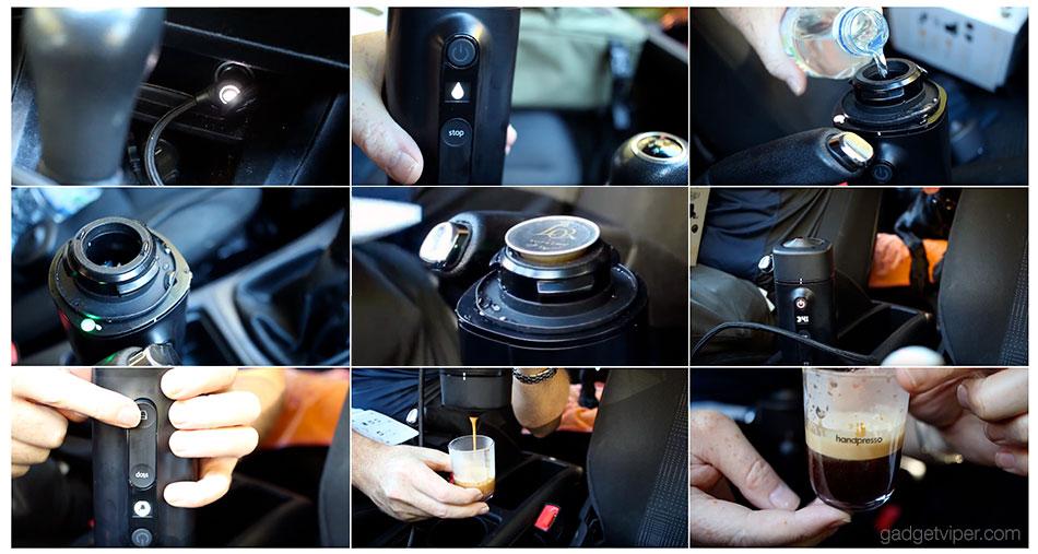 Using the Handpresso Auto Capsule espresso machine