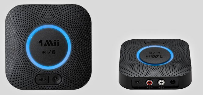 The 1Mii B06 Plus Bluetooth audio receiver featuring 3D sound mode.