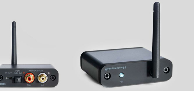 The B1 Bluetooth music receiver with the latest Bluetooth 5.0 and apt-X HD and Low Latency