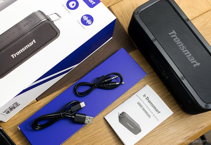Unboxing The Tronsmart Element Force Bluetooth speaker