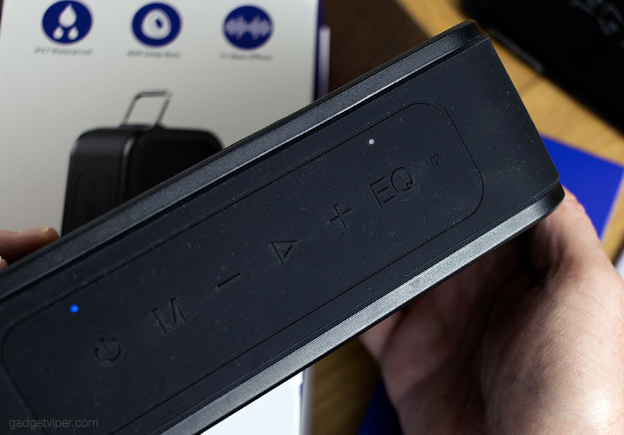 The controls on the Tronsmart Element force Portable Bluetooth speaker