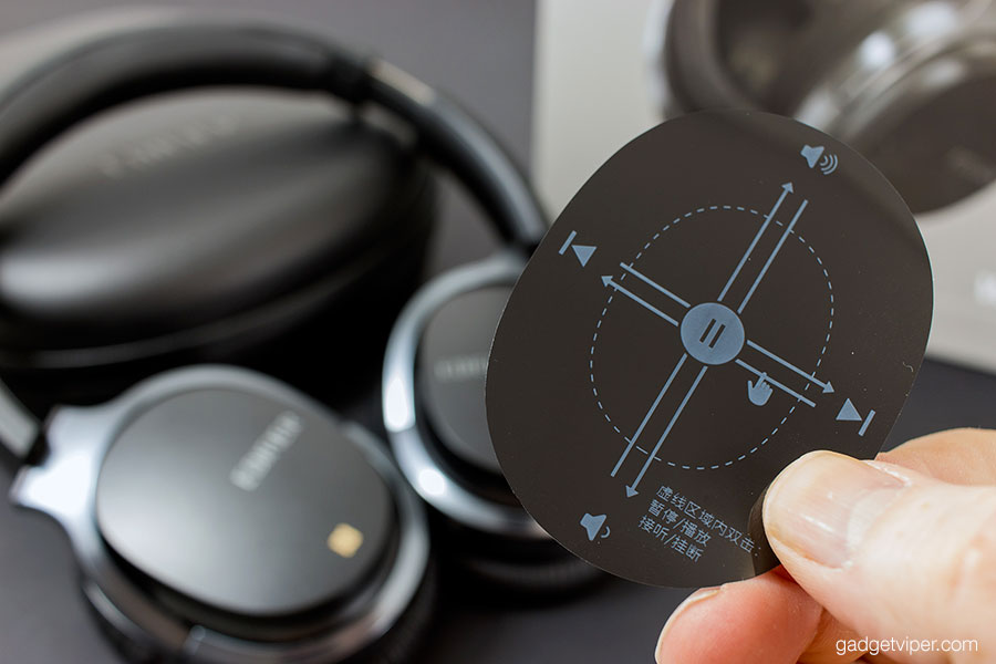 Touch sensitive controls on the Edifier W860NB Bluetooth headphones