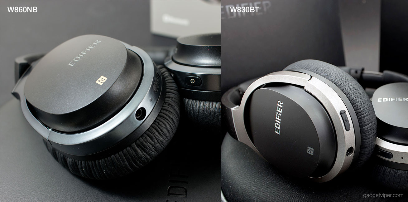 A comparison of the Edifier W860NB to the W830BT Bluetooth headphones