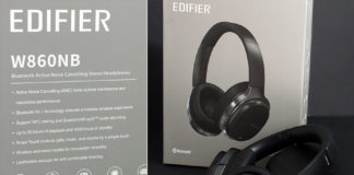 Edifier w860nb review - Over the ear active noise cancelling Bluetooth headphones