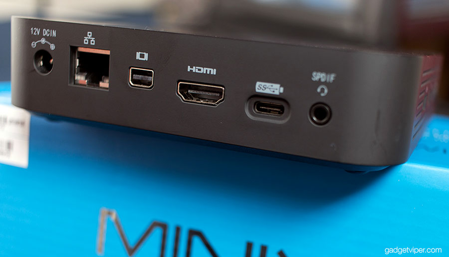 A look at the output ports on the Minix Neo N42C-4 mini pc
