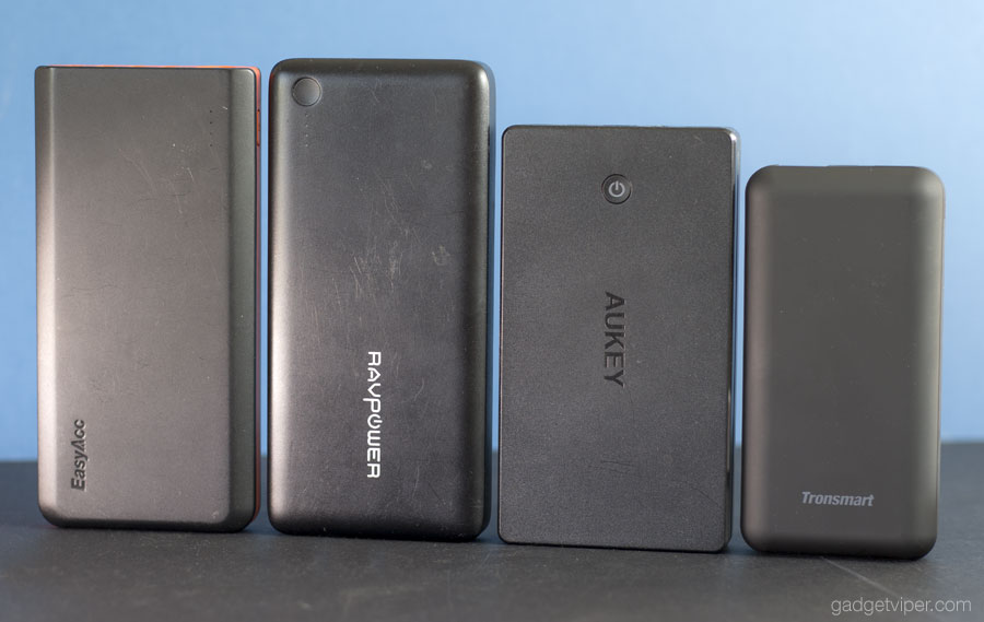 A high capacity power bank size comparison