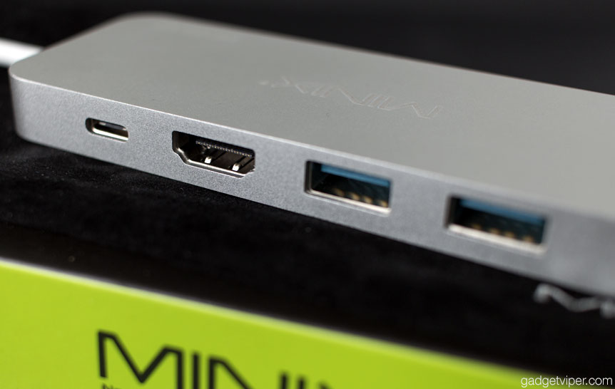 The ports on the Minix Neo S1 USB hub