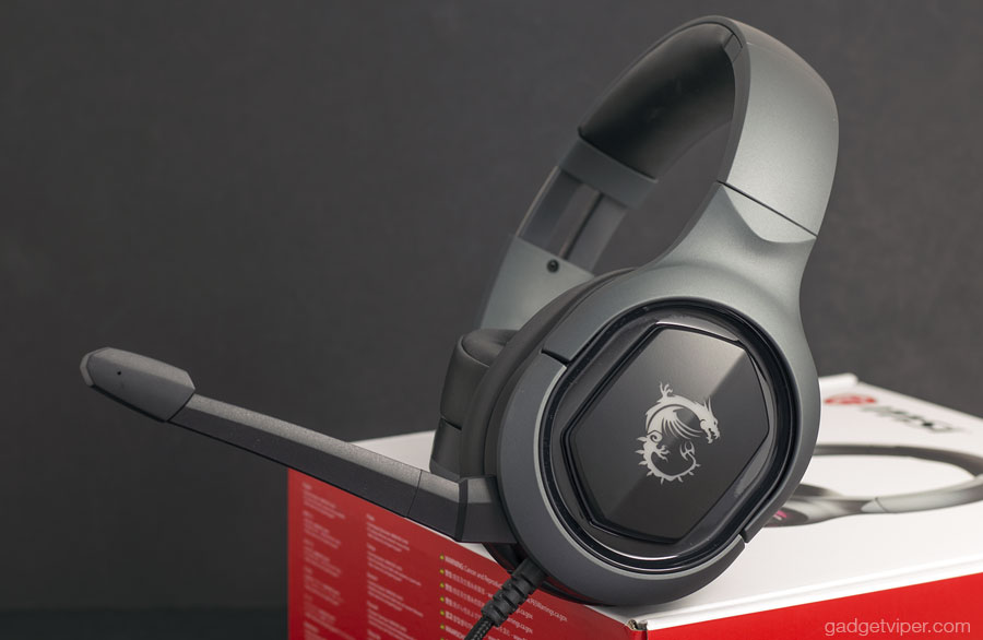 The clean design of the GH50 gaming headphones by MSI