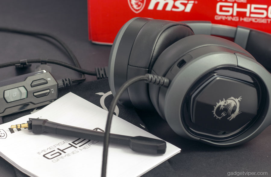 Unboxing the MSI GH50 gaming headphones