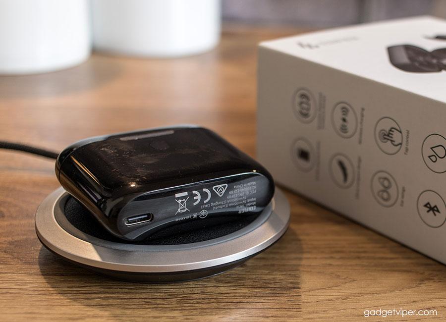 Qi Wireless charging the Edifier True Wireless Earphones